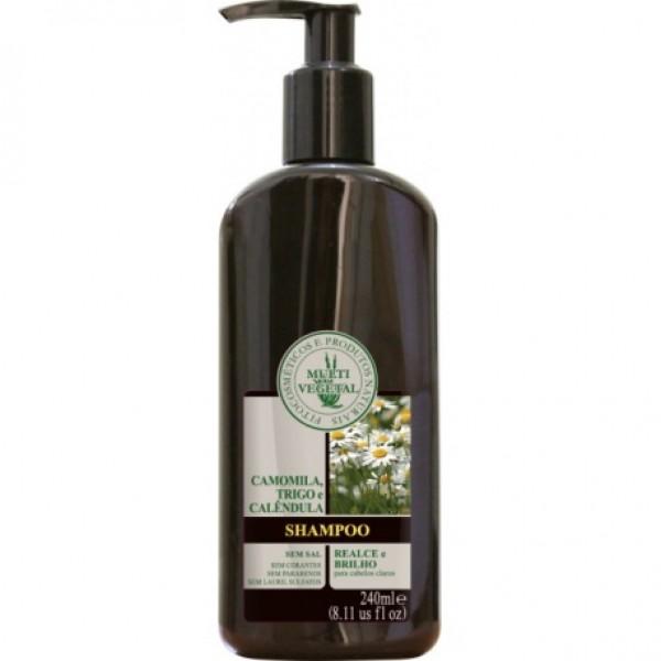 Shampoo Natural e Vegano Multi Vegetal Camomila, Trigo e Calêndula