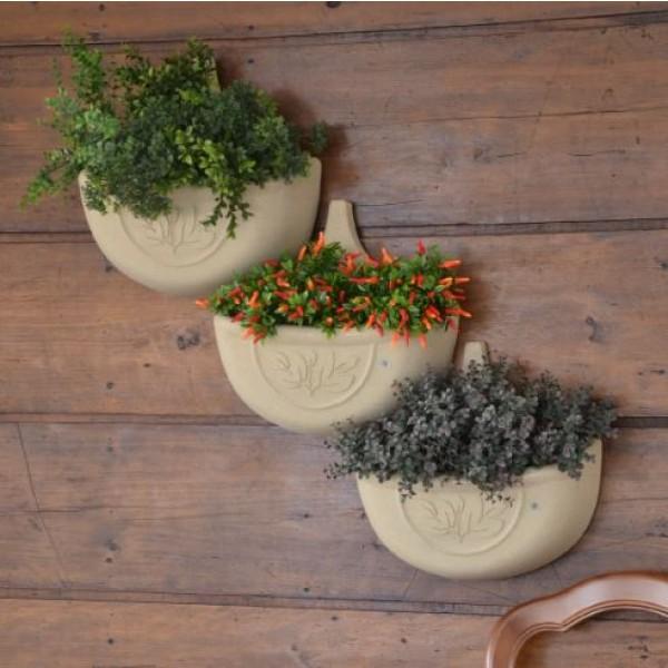 Vaso de Parede Componível Auto Irrigável (Verde Vida)
