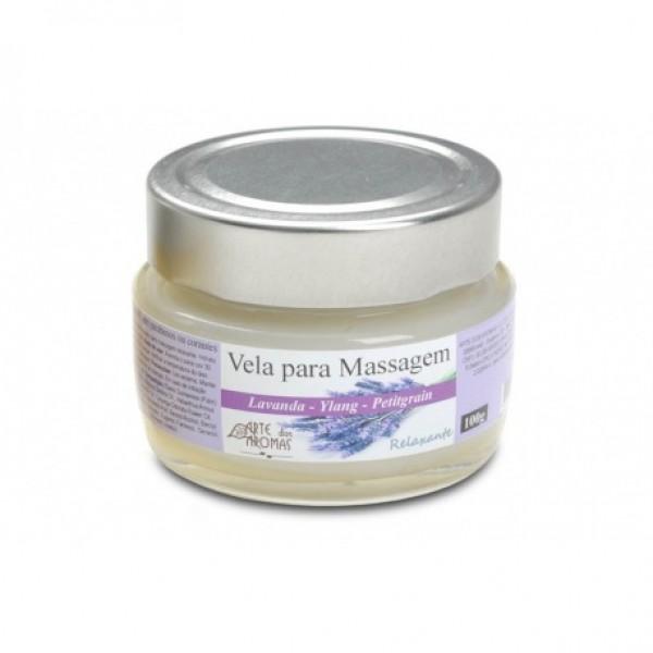 Vela Natural para Massagem Arte dos Aromas Lavanda 100g