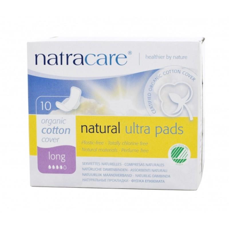 Absorvente Orgânico Natracare Long com abas Ultra Pads com 10 absorventes