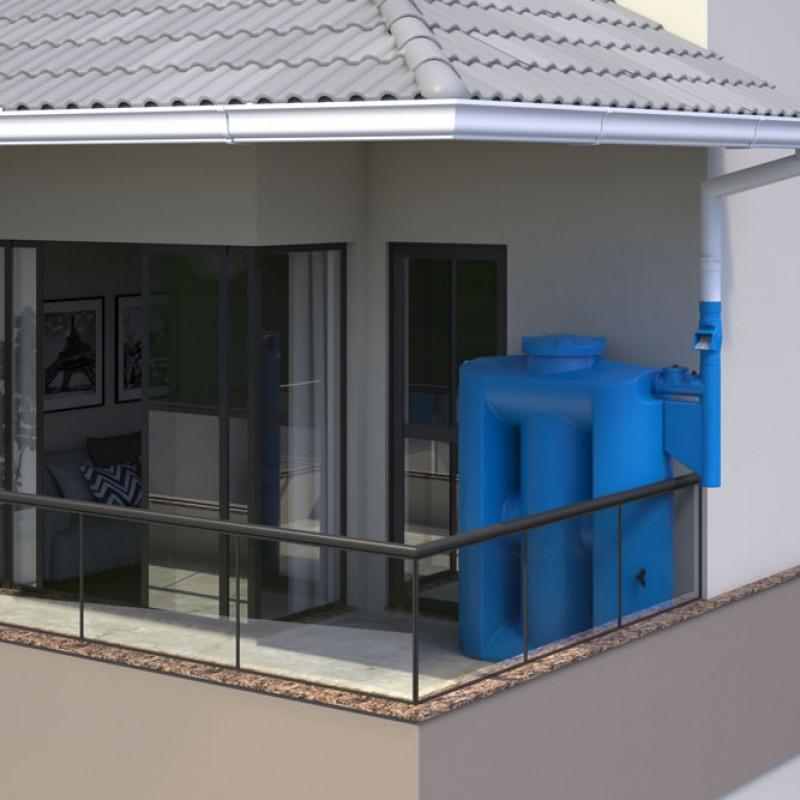 Cisterna 600 litros demonstração