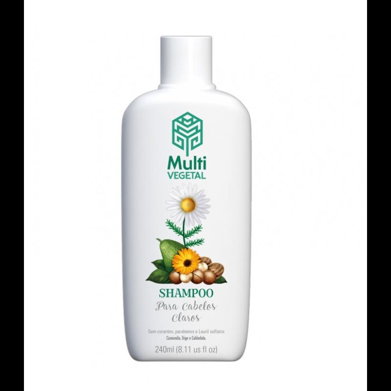 Shampoo Natural e Vegano Multi Vegetal Camomila, Trigo e Calêndula 240 ml