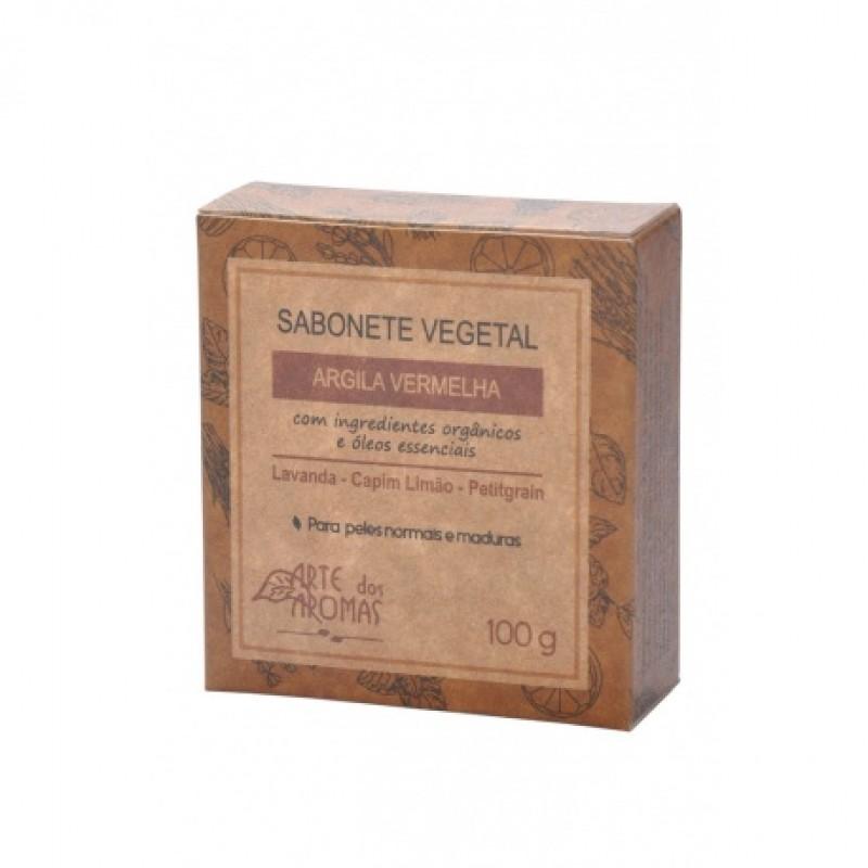 Sabonete Vegano Arte dos Aromas Argila Vermelha 100g