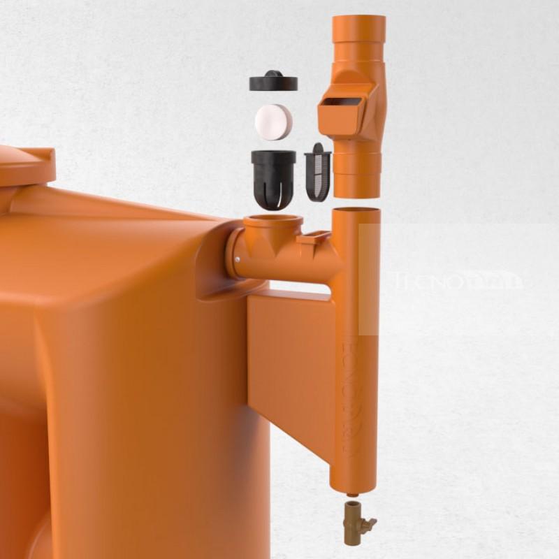 Filtro separador de folhas para cisterna