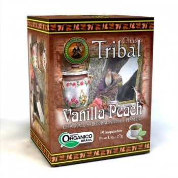 Chá Tribal Brasil - Vanilla Peach - Sachê (15 sachês)
