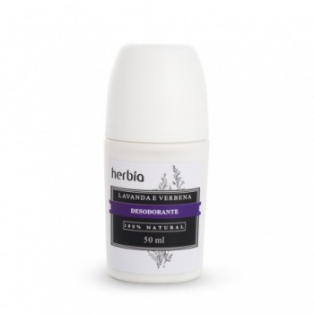 Desodorante Natural e Vegano Lavanda e Verbena Branca - 50ml - Herbia