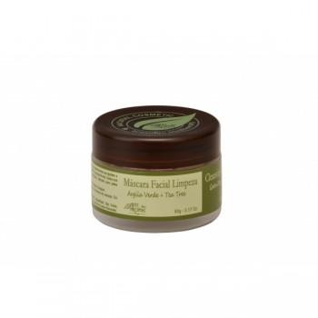 Máscara Facial Natural Vegana Arte dos Aromas Limpeza Argila Verde e Tea Tree 90g