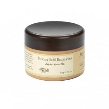 Máscara Facial Vegana Natural Arte dos Aromas Iluminadora de Argila Amarela 90g