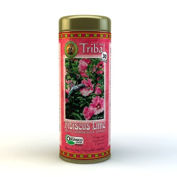 Chá Tribal Brasil - Hibiscus Lime - Sachê Redondo (30 sachês)