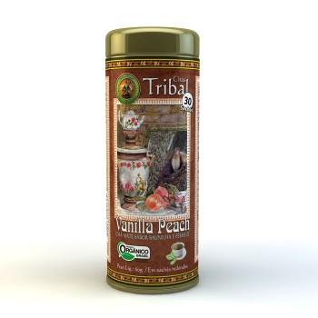 Chá Tribal Brasil - Vanilla Peach - Sachê Redondo (30 sachês)